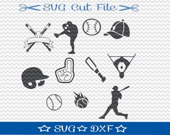 Baseball SVG Cut File / SVG for Silhouette / Baseball SVG File / Baseball Player svg / Sports svg / Baseball Mom svg