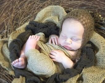 Newborn Mohair Bonnet Photo Prop