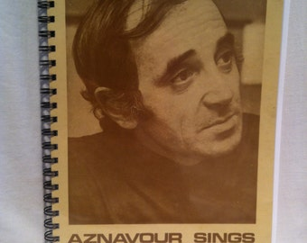 1969 Charles Aznavour Notebook
