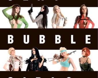 Sexy BUBBLE Girls Photobook, Russian Cosplay Gilrs soft cover exclusive book.