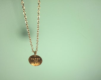 """Customizable Stamped Circle Necklace 18"""" Chain"""