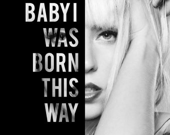 Lady Gaga Lyric Print