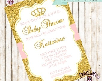 Baby princess invitation
