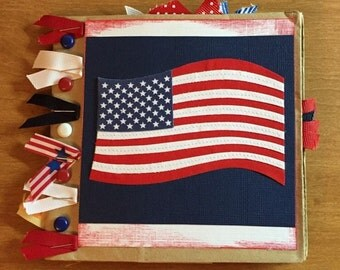 Paper Bag Scrapbook America Theme