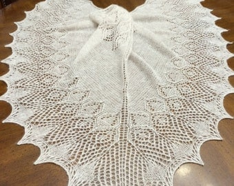 Light purple  lace beaded luxurios shawl