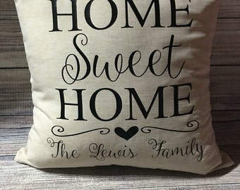 Personalized Family Name Pillowcase