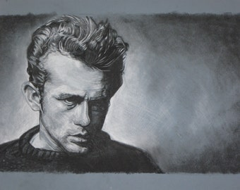 James Dean Charcoal Drawing