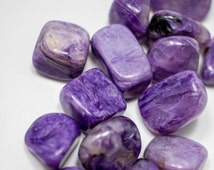 Russian Charoite AA Grade - rOcks and minerals - raw healing Crystal - wire wrapping - medicine bag - reiki stones - gift Tumbled Crystal