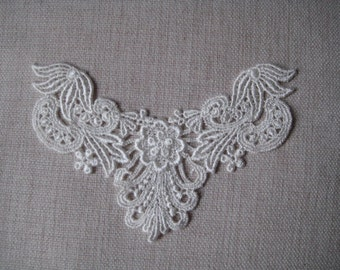Ivory Lace Appliques,Venise Lace design for bridal, necklaces, Jewelry Supply, Altered Couture, Memory pages