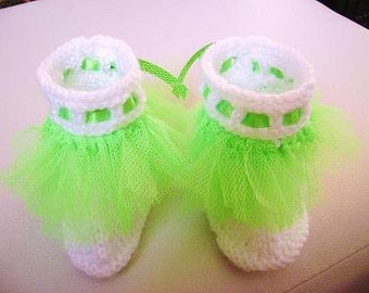 Original Green Tutu Booties