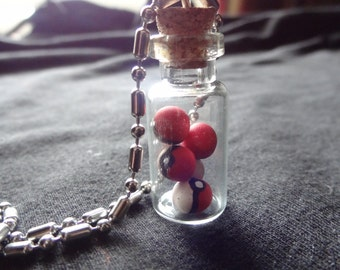 Pokeballs in a bottle