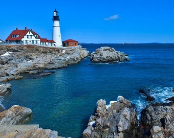 Portland Head Light in South Portland, Maine.