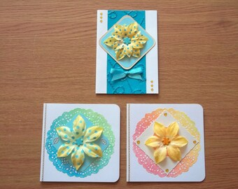 Pack of 3 Handmade Blank Cards