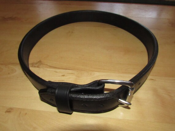Leather Gun Range Belt and/or Instructors Carry Belt Handcrafted with 2 Premium Leather incorporated into your Belt
