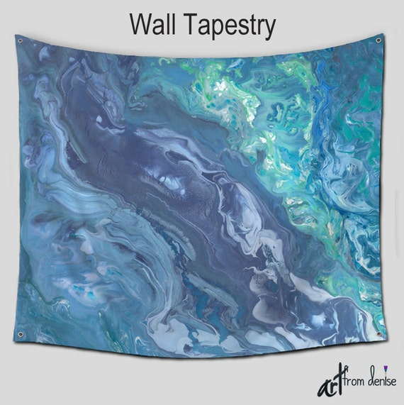 hippie boho tapestries wall tapestry hanging teal blue gray. Black Bedroom Furniture Sets. Home Design Ideas