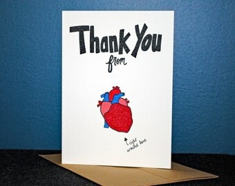 Bottom of My Hear Thank You Card, 5 Pack