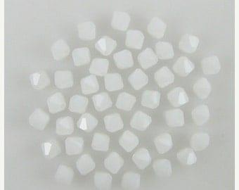 40% CLEARANCE 48 4mm Swarovski crystal bicone 5301 White Alabaster 7984
