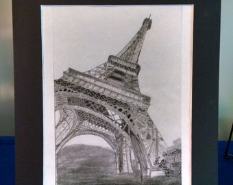 Eiffel Tower print 8x10 matted to 11x14