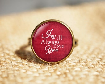 I Will Always Love You Rings,Wedding Gift ,Anniversary gift