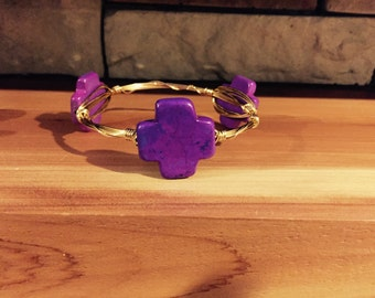 Purple cross bangle