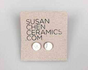 Porcelain marble effect earrings
