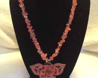 Necklace Coral rose
