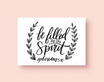 Ephesians 5:18 Print | Bible Verse Print