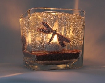 Forever Candle - Butterfly & Dragonfly