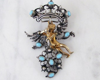 Silver Angel Pendant Pin