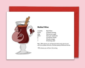 Mulled Wine Chameleon Recipe Greeting Card