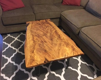 Angel Wings Book-matched Sinker Cypress Table