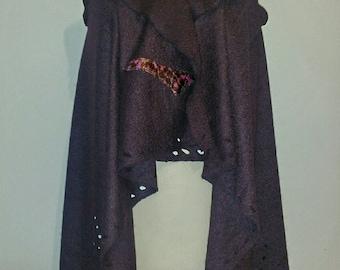 Mantella-boiled wool Vest
