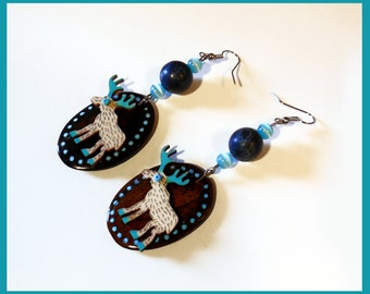 "Earrings ""Hola caribou"""