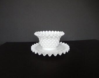 Milk Glass Petite  Bowl and Saucer