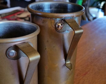 vintage copper measuring cups