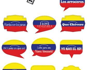 Venezuelan Signs - Photo Booth Signs