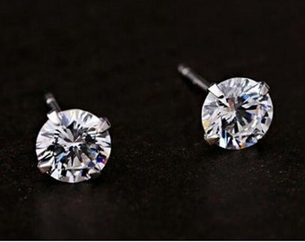 Round Crystal Stud Earrings - Free Shipping