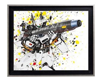 Watercolor Robotech vf-1 roy Fokker print art matte