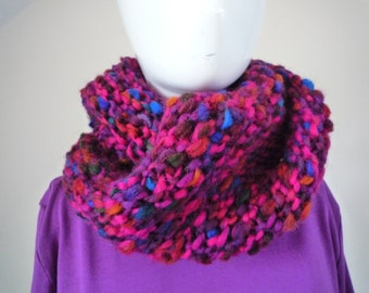 Multicoloured Infinity Scarf