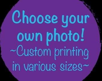 Custom photo printing on premium photo gloss or luster paper, 8x10, 12x12, 13x19, 18x24, 20x30, 24x36, 27x40