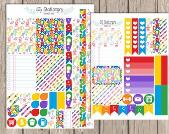 School is Cool Planner Stickers, Functional Stickers, ECLP,  school, stationery, back to school