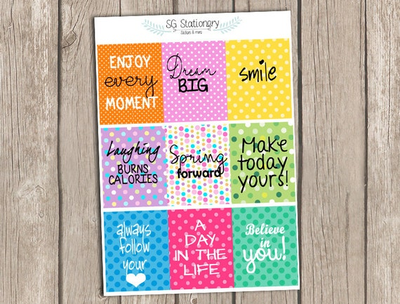 quote full box stickers motivational stickers inspirational