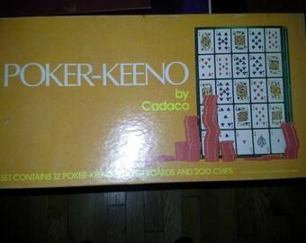 vintage 1977 poker-keeno board game