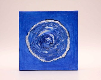 Blue Rose Acrylic Painting