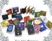 28 MAGIC Dollhouse Miniature Book Cover Set #7 – 28 Titled Magic Miniature Book Covers - 1:12 Printable Dollhouse Magic Book Cover DOWNLOAD