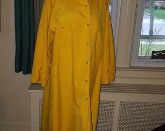 Vintage 1980's Bonnie Cashin Yellow Trench Coat