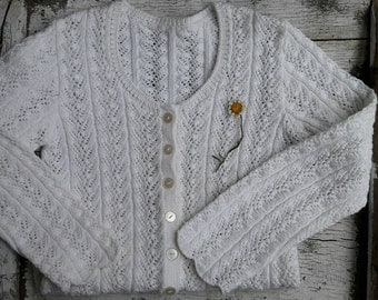 Cotton white Cardigan