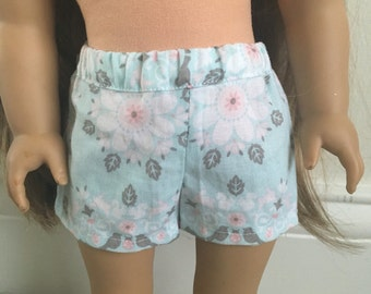 pastel printed shorts