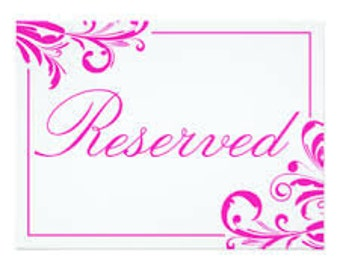 Reserved item for @carrotandclaire