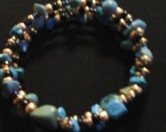 Turquoise inspired beaded bracelet